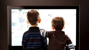 Child Between The TV
