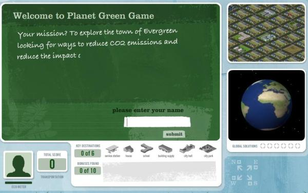 planet green game